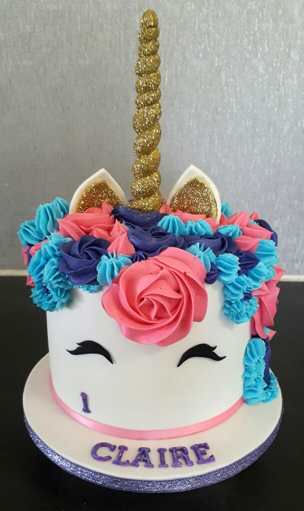 Unicorn Cake For Claires First Birthday
