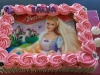 Barbie edible print cake