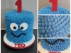 Cookie Monster cake for Teo