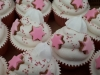 Cup cakes with meringue & biscuit decor