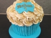 Giant cupcake with gold crown