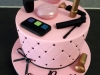 Make-up themed cake for Siphosethu