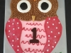 Owl butter cream cake