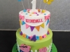 Peppa pig themed cake for Holly & Kendall