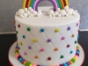 Rainbow theme with smartie dots