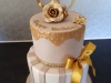 60th Birthday cake in champagne