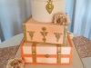 80th Birthday suitcase themed cake