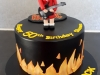 ACDC themed cake