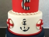 Nautical 21st birthday cake