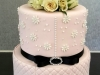 Pink, black & white 81st birthday cake