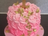 Rose swirl 1st birthday cake