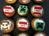 Minecraft cup cakes