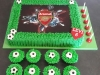 Arsenal edible print cake
