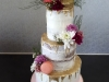 Semi naked cake with gold drip