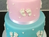 Christening cake for baby girl & boy