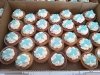 Cupcakes with blue cross