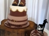 Cowboy themed wedding cake with side cake
